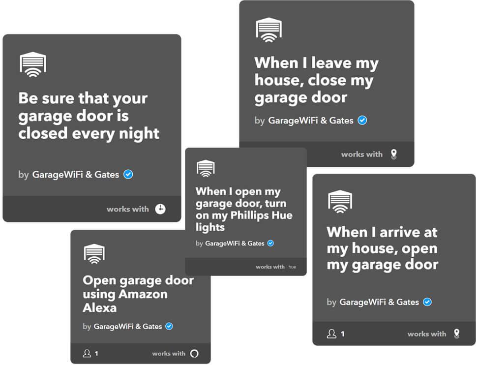 IFTTT applets for garage or gate