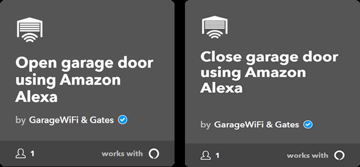 Amazon Alexa IFTTT ismartgate integration applets