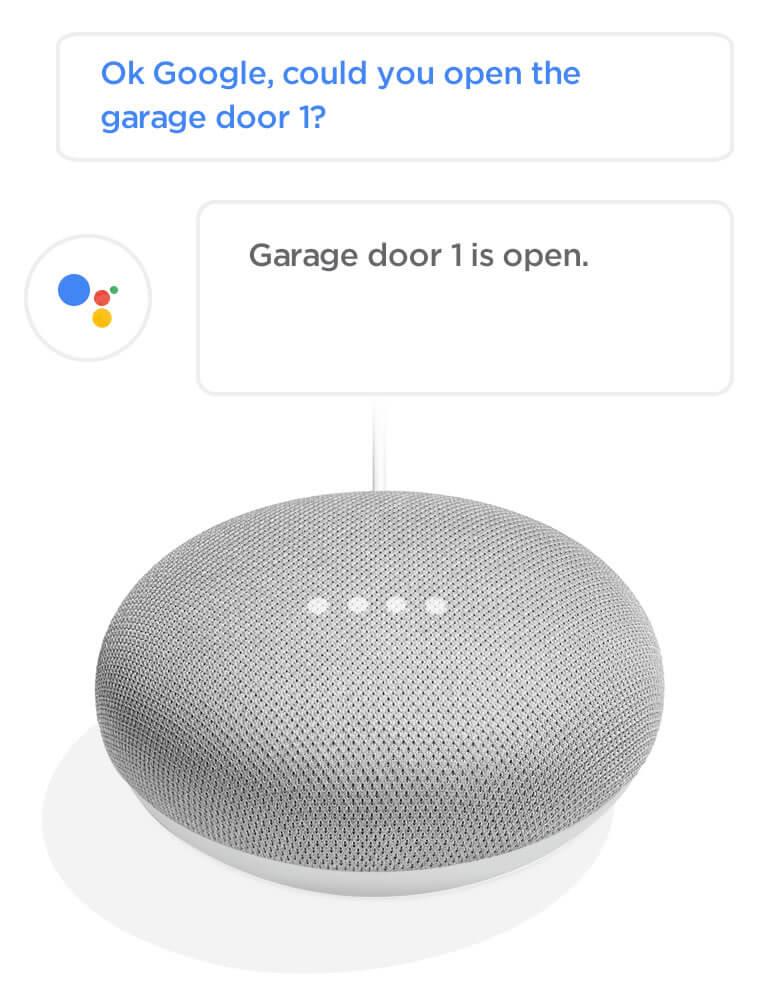Google Home Mini ismartgate intregration voice dialog